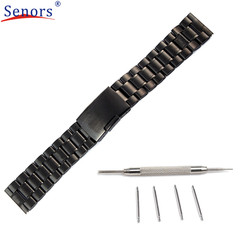 watch strap New Design 22mm Stainless Steel Watch Band For Pebble Time Smart Watch+Tool Clock!