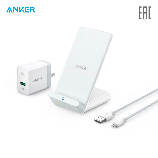 Беспроводное зарядное устройство Anker PowerWave 7.5 Stand with Quick Charge 3.0 Charger официальная гарантия, быстрая доставка