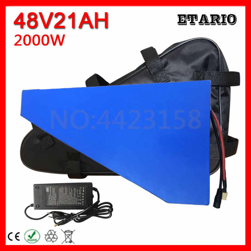 Free Customs Duty 48V 2000W Lithium Battery 48V 20AH Ebike Battery 48 V 20AH Electric Bike Battery with 50A BMS 54.6V 2A Charger