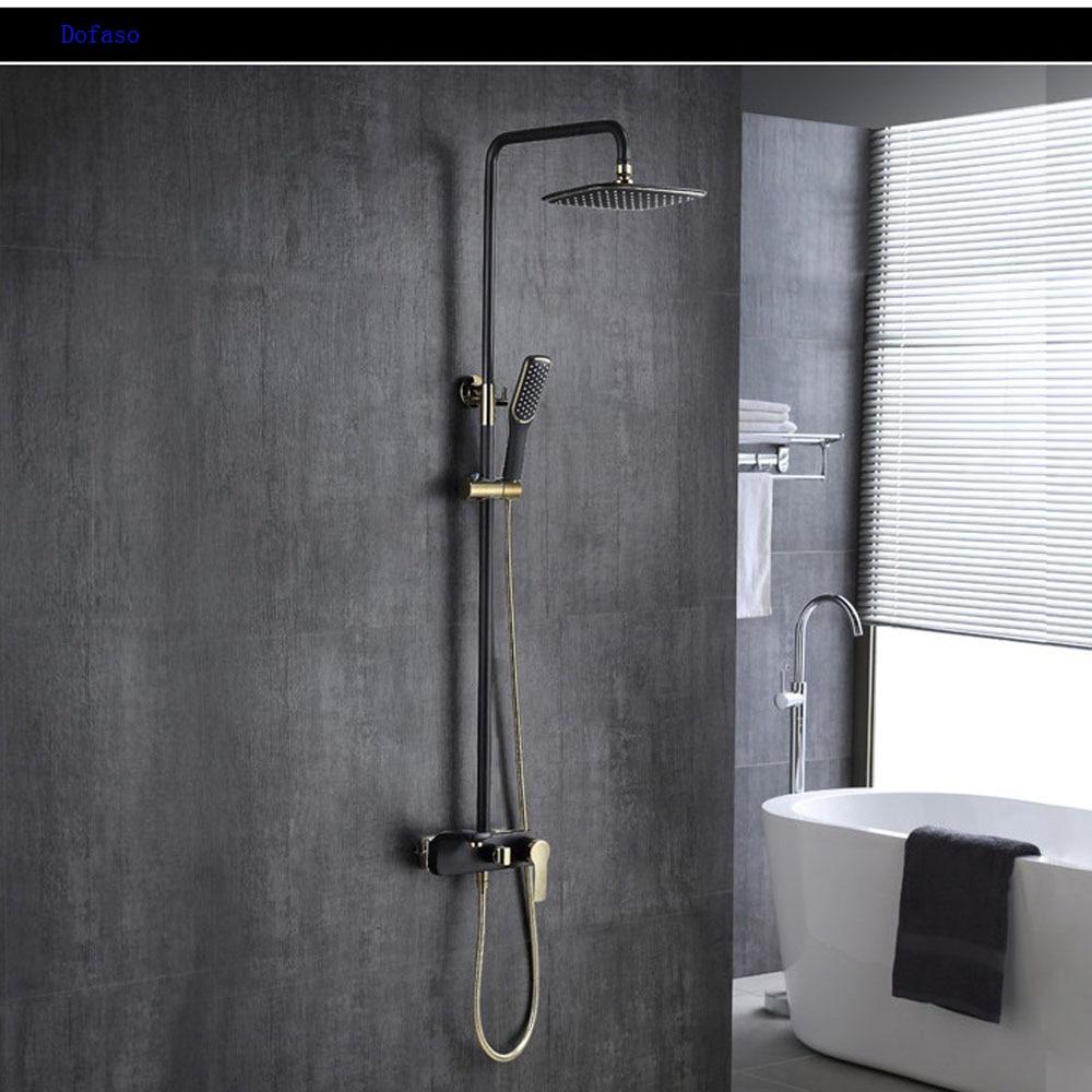 Dofaso rain shower bathroom all copper golden and black ...