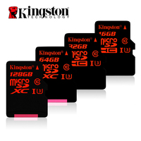 Kingston Digital 32GB 64GB MicroSDHC UHS I Speed Class 3 U3 90R 80W Flash Memory Card