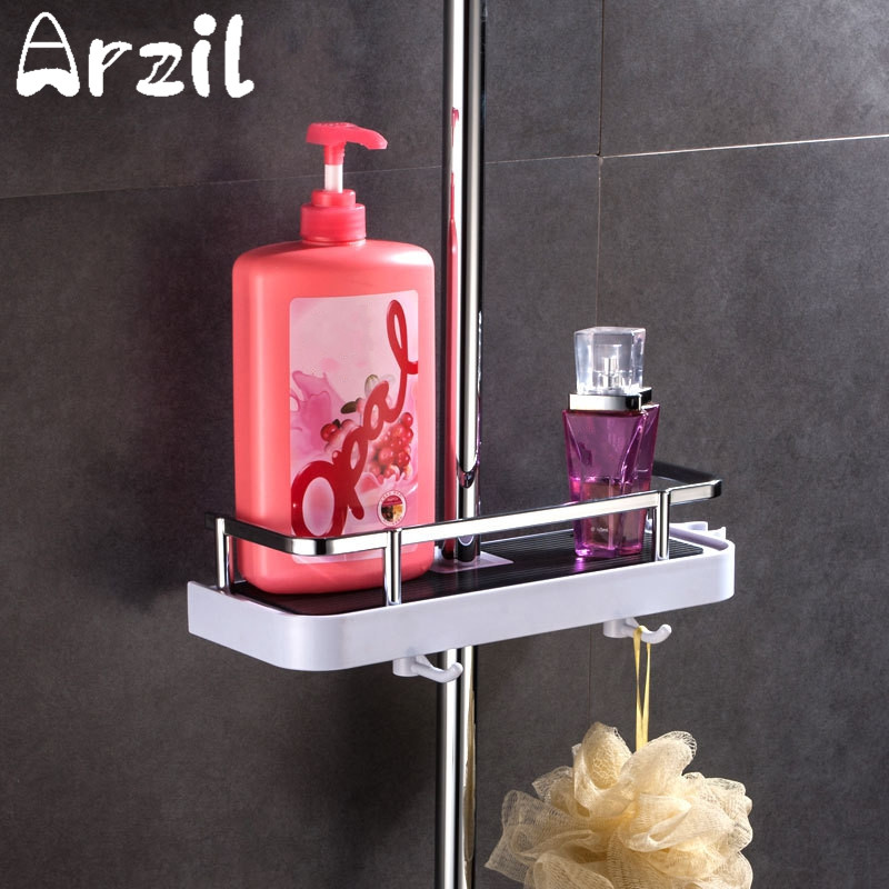 ABS Bathroom Shampoo Rack Holder Shower Storage Hooks Bath Caddy ...