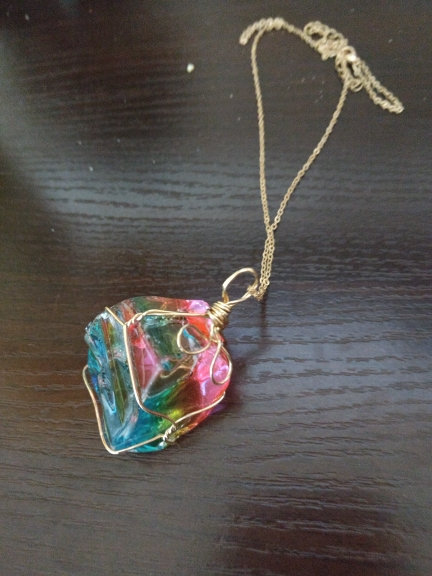 Rainbow Quartz Necklace photo review