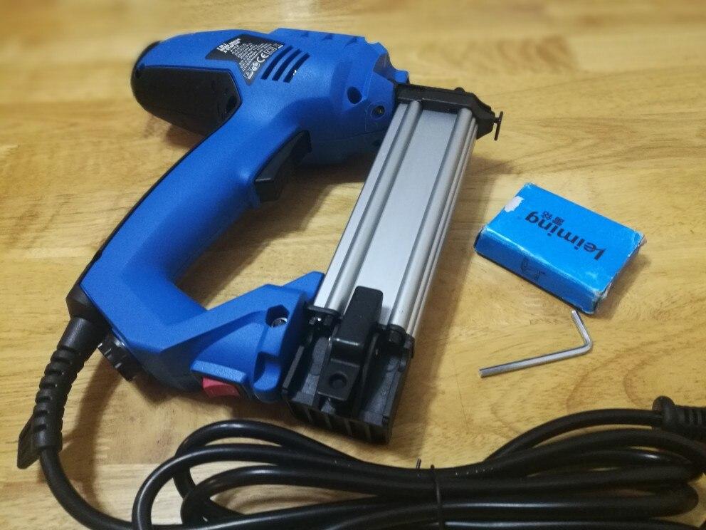 F30 Heavy Duty Pistola de U/ñas El/éctrica Clavadoras Rectas Carpinter/ía Grapadora Pistola para DIY Carpinter/ía Decoraci/ón Del Hogar Enchufe de LA UE 220 V