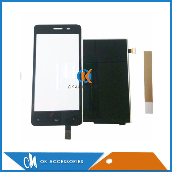High Quality For Fly IQ4403 LCD Display+Touch Screen Digitizer Assembly Black Color With Tape 1PC/Lot.
