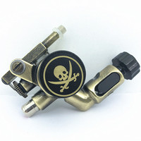Qink Powerful Rotary Tattoo Machine Professional Gun for Liner And Shader Strong Quiet Motor Skull Tattoo Frame