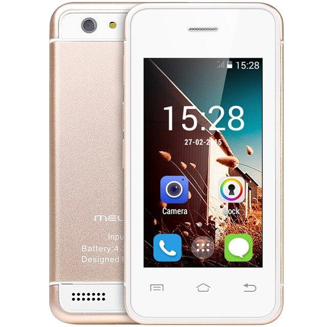 Оригинальный melrose S9 ультратонкий Карманный карт телефоны Mini 3 г смартфон 2.4 дюймов Android 4.4 Mtk6572 двухъядерный 1.2 ГГц Wi-Fi