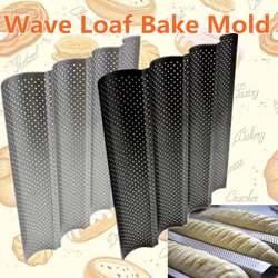 4 Водостоки антипригарным перфорированный Пан багет французский хлеб Пан волна хлеб пекут формы для выпечки Кухня прибор Запчасти