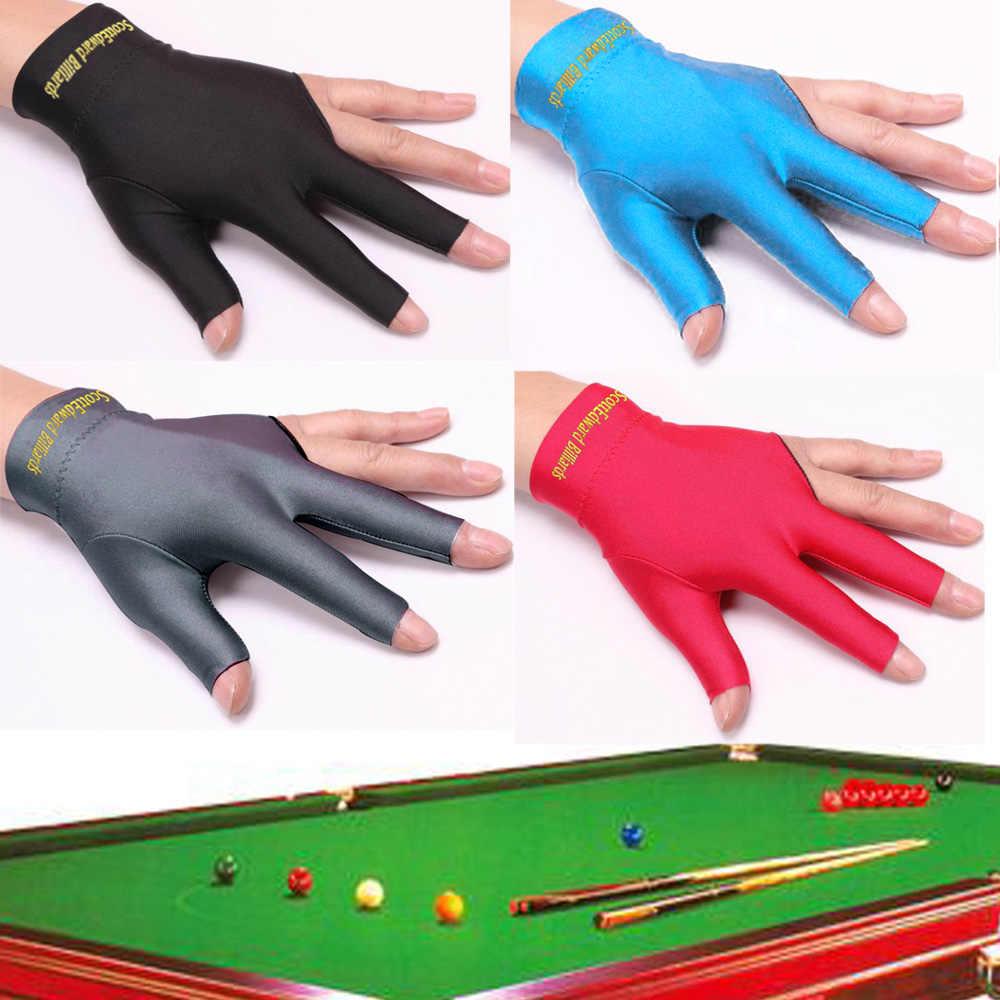 Black Spandex Snooker Billiard Pool Cue Glove Right Hand Three 3 Fingers NEW