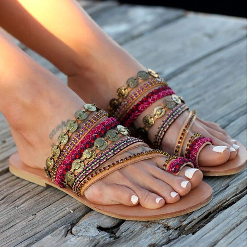 Rational Buzzyfuzzy Wildleder Quaste Spitze Up Gladiator Sandale Frauen Sommer Flache Sandalen Verschiedene Stile Frauen Sandalen Schuhe