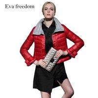 Eva freedom winter brand white eiderdown jacket 2018 fashion show temperament thin women's down jacket