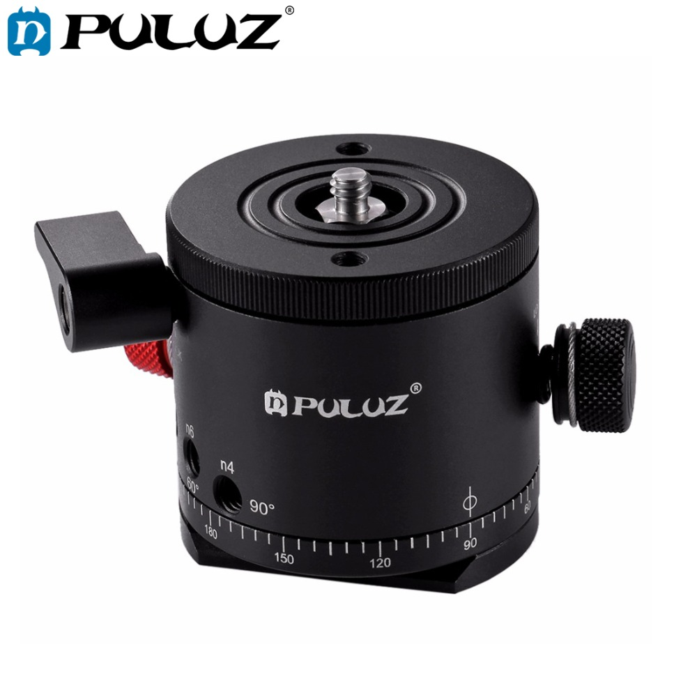PULUZ Aluminum Alloy Panoramic Indexing Rotator Ball Head for Camera Tripod Head