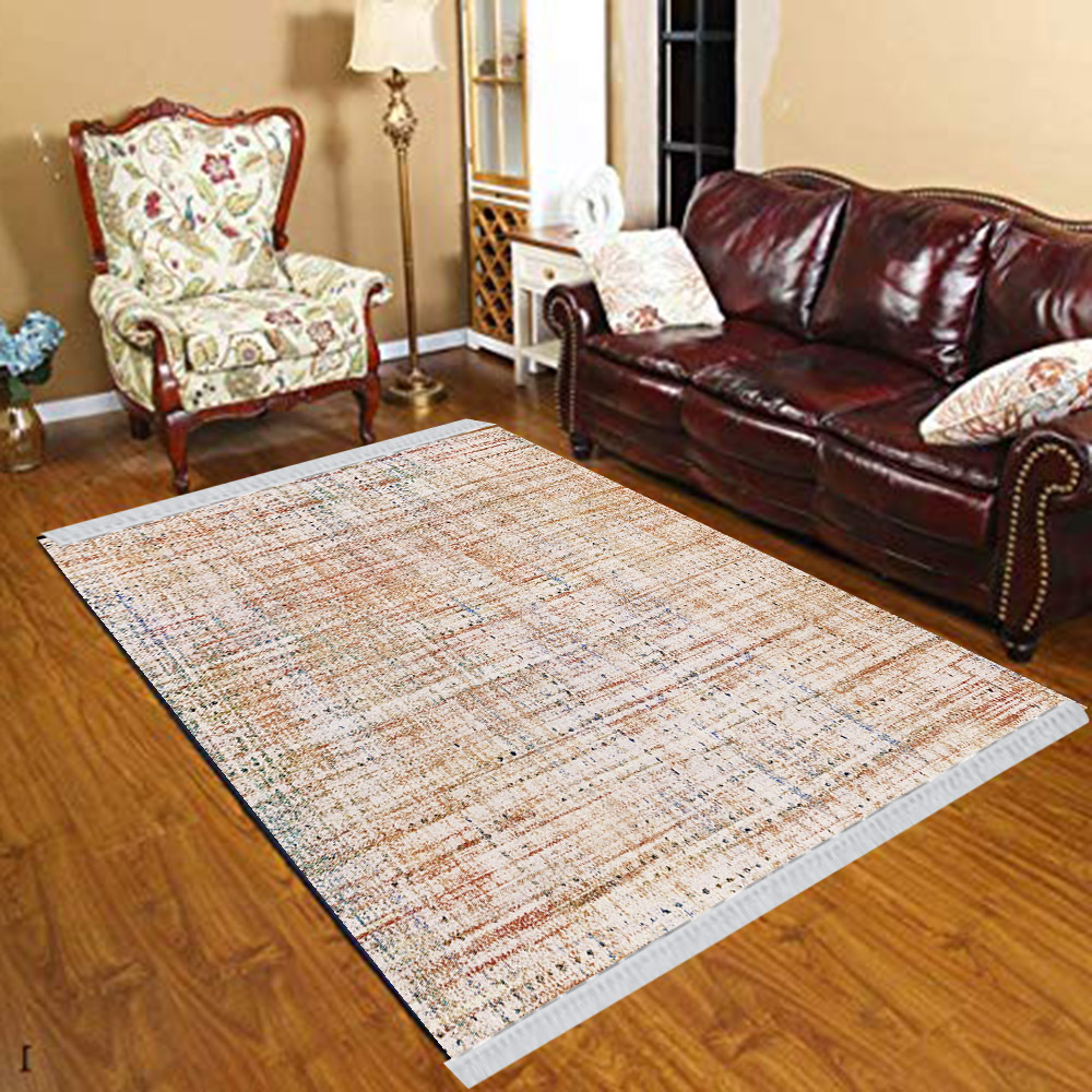 Else Brown Vintage Lines Stripes Geometric 3d Print Anti Slip Kilim Washable Decorative Kilim Tassel Rug Bohemian Carpet