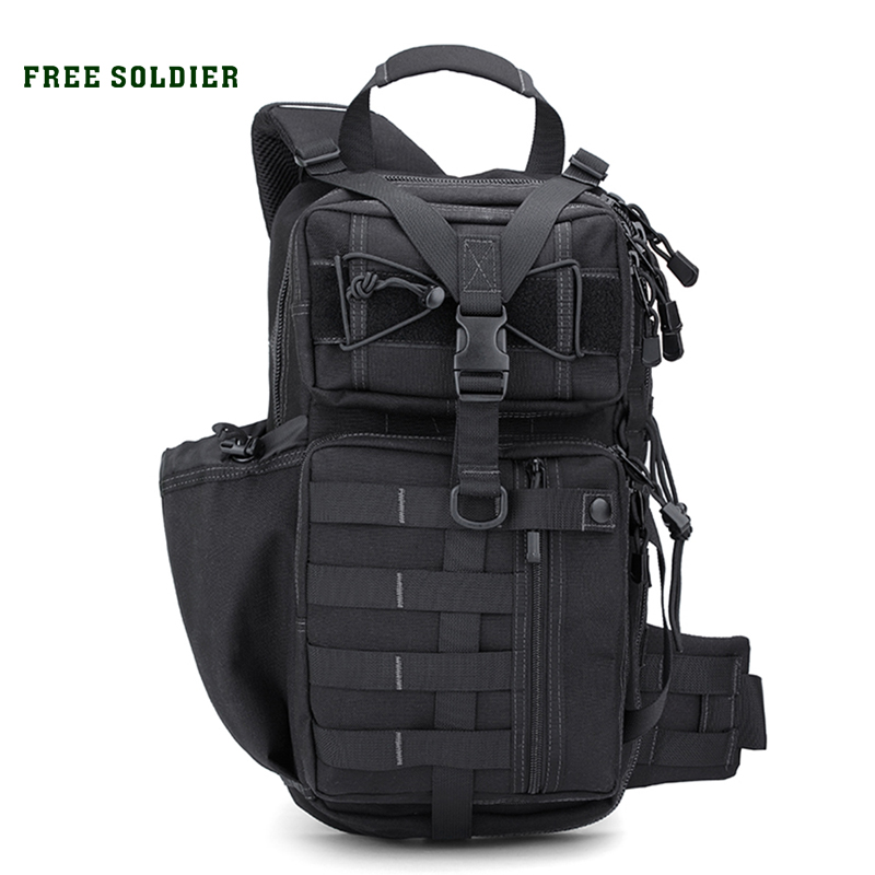 FREE SOLDIER Outdoor Sports Tactical Backpack Military Men's Bag For Camping Hiking Climbing zoom led flashlight 18650 rechargeable camping portable light tactical bicycle cycling torchlight waterproof bike torch