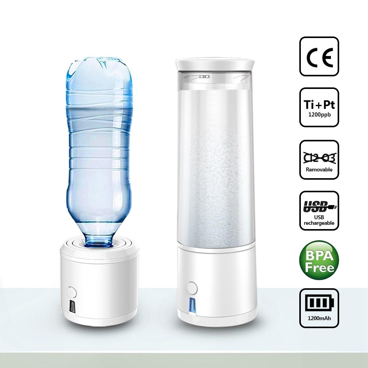 SPE H4 Hydrogen Rich Water Generator Lonizer Maker 300ml USB Charging Portable Alkaline Energy Bottle Water Filters Treatment wholesale lcd alkaline water ionizer