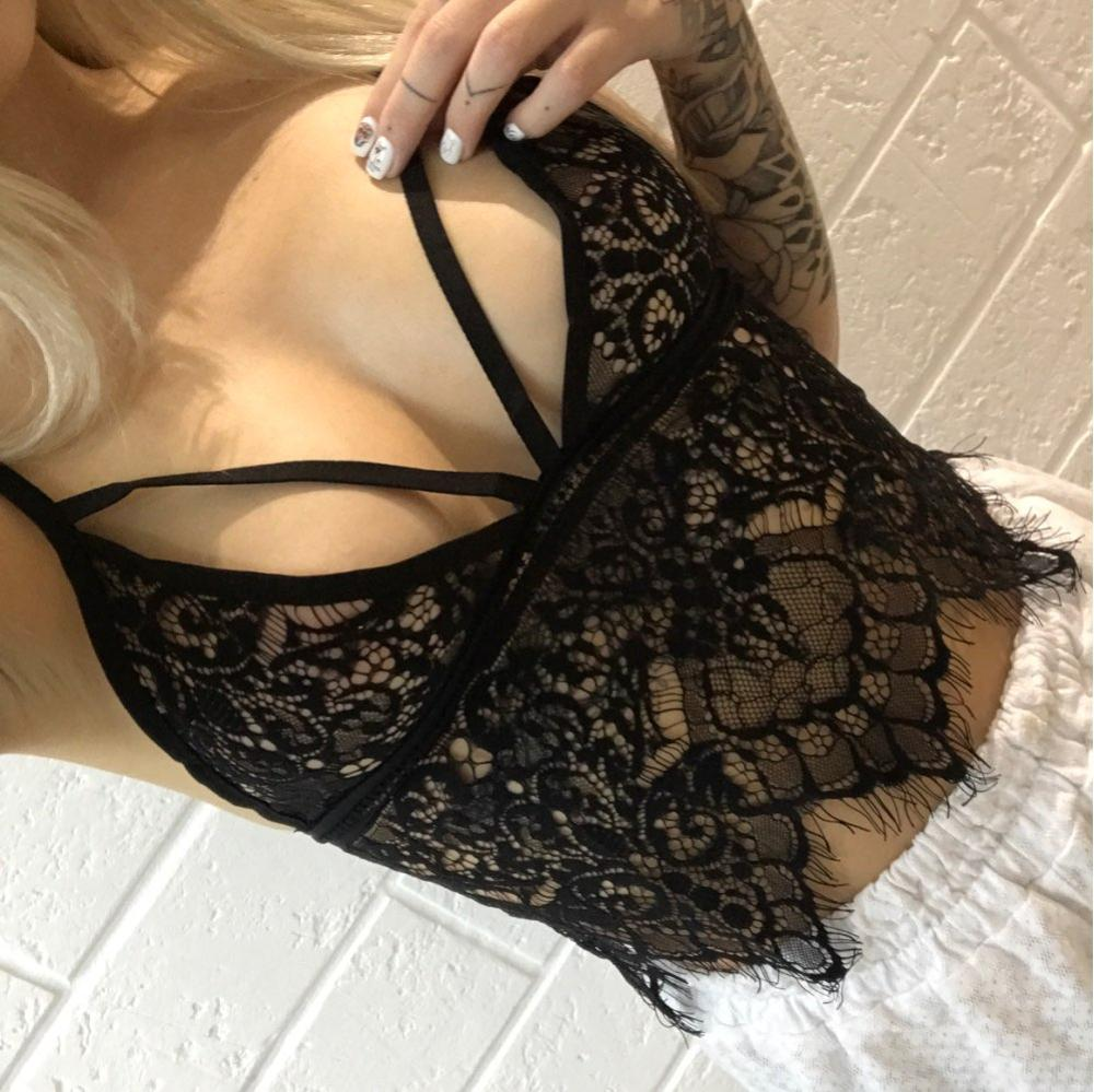 crop top women brandy melville bralette tops sexy strappy halter spaghetti strap ladies lace camisole tank top cropped feminino