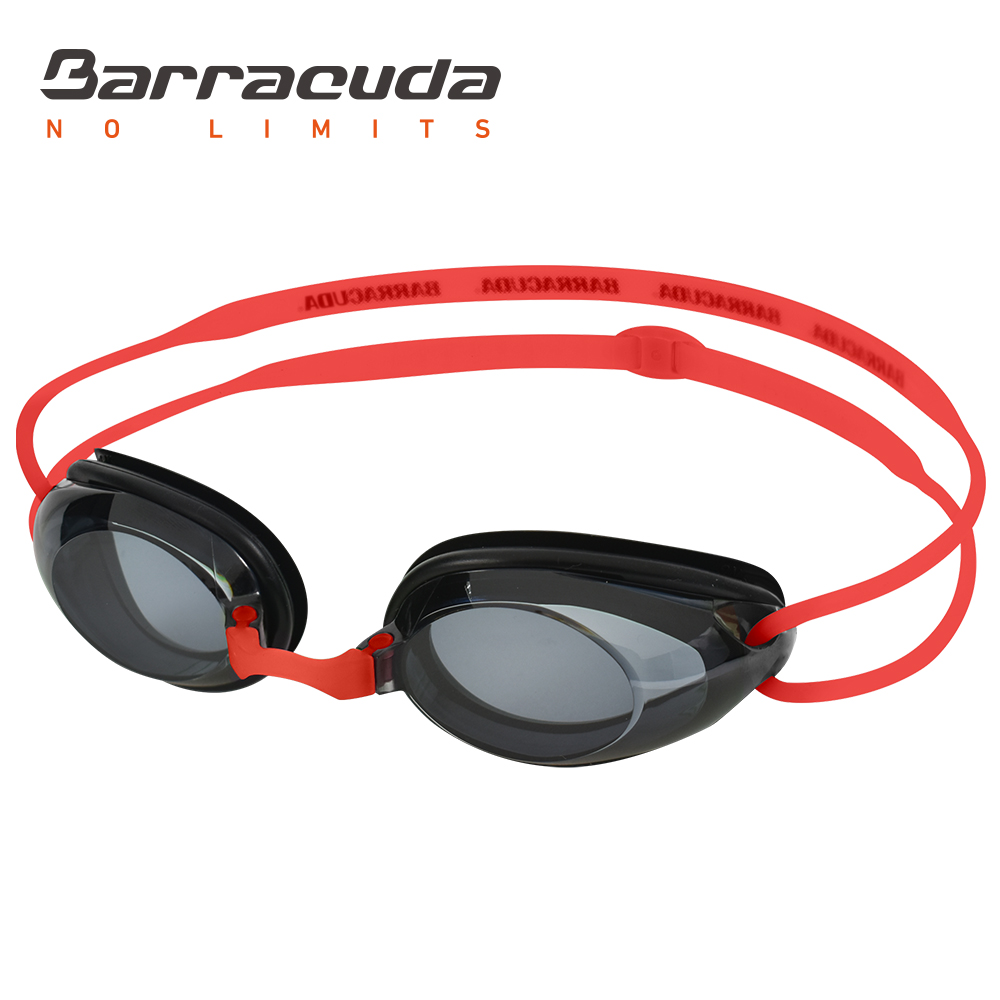 Barracuda Dr.B Goggles Swimming Optical Hidrodynamic Frame Frame Silicone Seals Anti UV Perlindungan UV untuk Dewasa RED # 2195