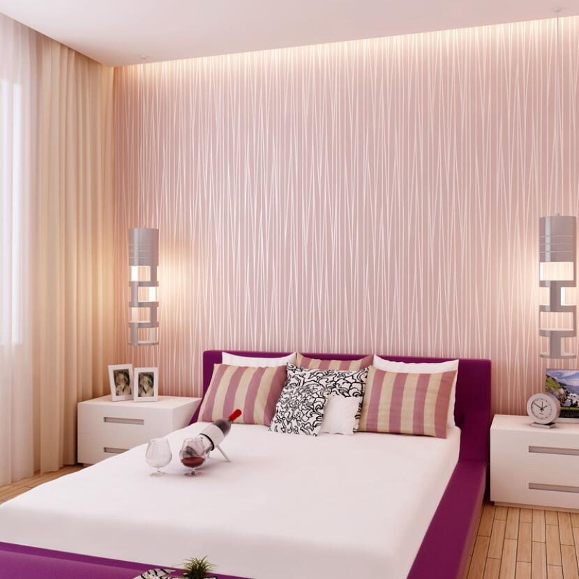 Decorating With Stripes For A Stylish Room: Hot Sale Beautiful Reflective Glitter Stripes Wallpaper