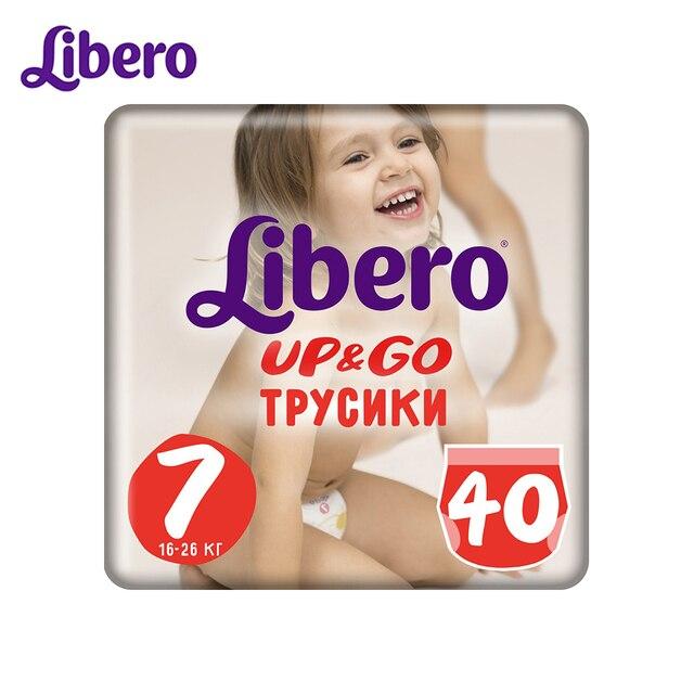 Трусики-подгузники Libero Up&Go Size 7 (16-26кг), 40 шт.