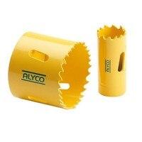 Alyco 197121-crown bimetálico hss 63 65 hrc dentes variável 4/6 diâmetro de corte positivo 121mm