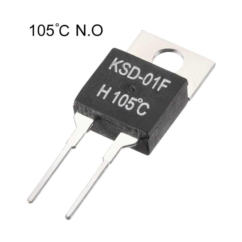 UXCELL 2 шт. термостаты регулятор температуры 90/100/105 Цельсия нормальный уровень открытый KSD-01F 1500 В/DC 60 Гц 220 В AC 1A/24 В 3A