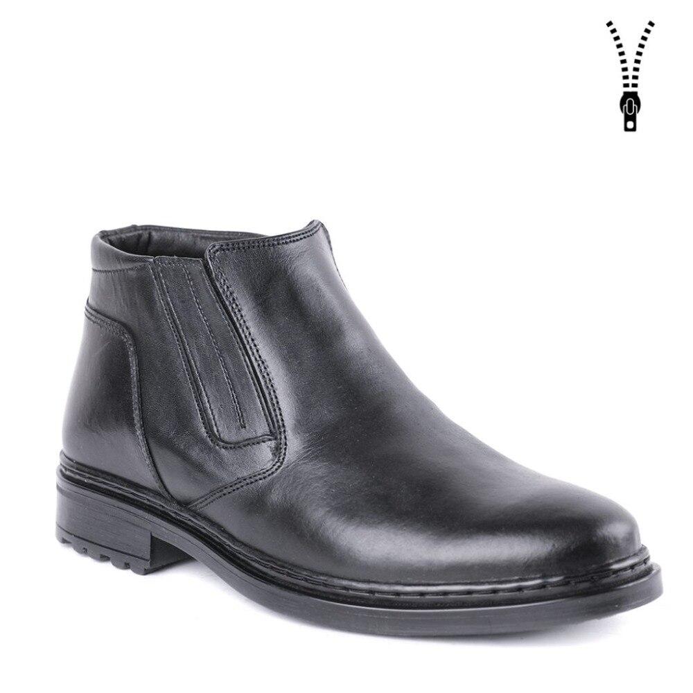 Homem clássico sapatos sapatas de vestido de inverno botas morno com pele DOF alta qualidade couro genuíno 0081/1 ZA