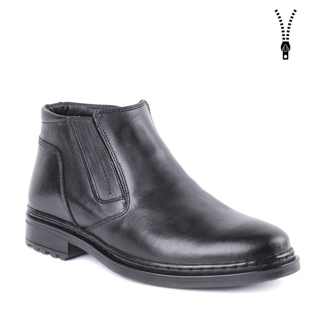 winter man classic shoes dress shoes warm boots with fur DOF high quality genuine leather 0081/1 ZA