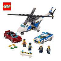 LEGO City 60138 bloc de construction jouet Compatible Legoing 3 en 1 hélicoptère de Police voiture de sport éducatif cadeau créatif pour les enfants
