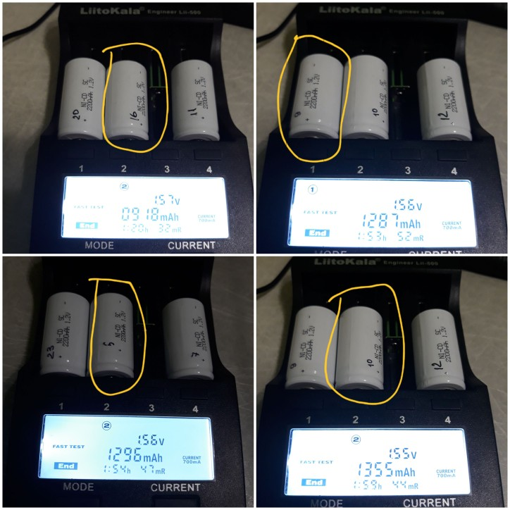 Nightkonic 10 pieces or 12 pieces SC battery 2200mAh rechargeable subc battery 1.2 v with tab for makita for dewalt for bosch