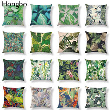 Hongbo Seat Cushion Cover Tropical Rain Forest Plant Print Throw Pillowcase Sofa Car Decorative Cushion Cover For Bed Home Decor цены
