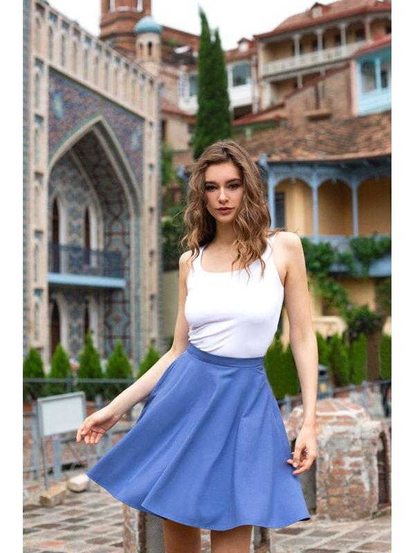 Skirt the sun. Color blue. skirt denim color sky blue