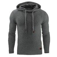 2017 Casual Hoodies Brand Men Solid Color Hooded Sweatshirt Male Hoody Hip Hop Autumn Winter Hoodie