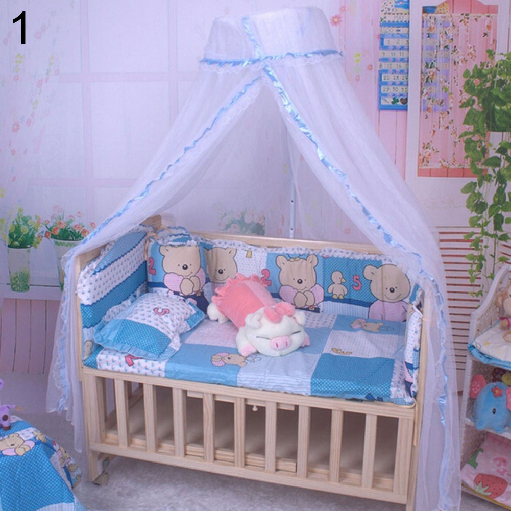 Baby Canopy For Crib: Dome Bed Curtain Baby Canopy Net Mosquito Tent Bed Crib