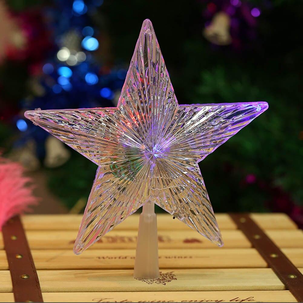 Changing Christmas Tree Star Wedding Lights Series Led Battery Lantern  Festival Decoration Flashing Stars Waterproof Lamp