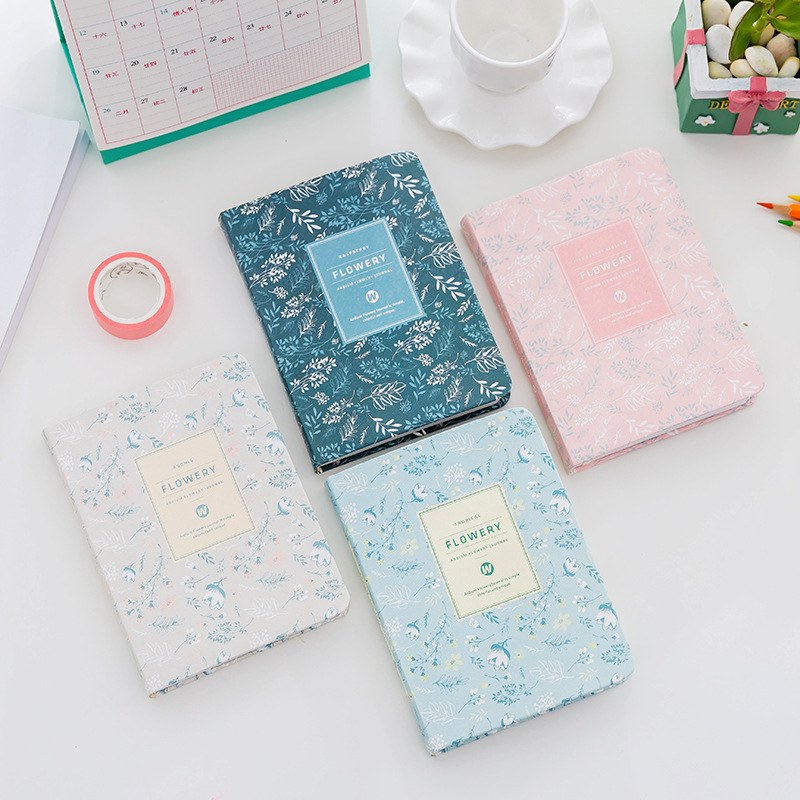 Creative Korean Flower Diary Weekly Monthly Yearly Schedule Planner A6 Mini Vintage Paper Notebook Agendas Organizer Stationery creative art fashion a6 journal planner book weekly monthly daily page blank paper pu leather diary notebook gift free shipping