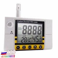 Цифровой настенный качество воздуха в помещении температура, относительная влажность углекислого газа CO2 метр Сенсор детектор 0 ~ 2000ppm диапа