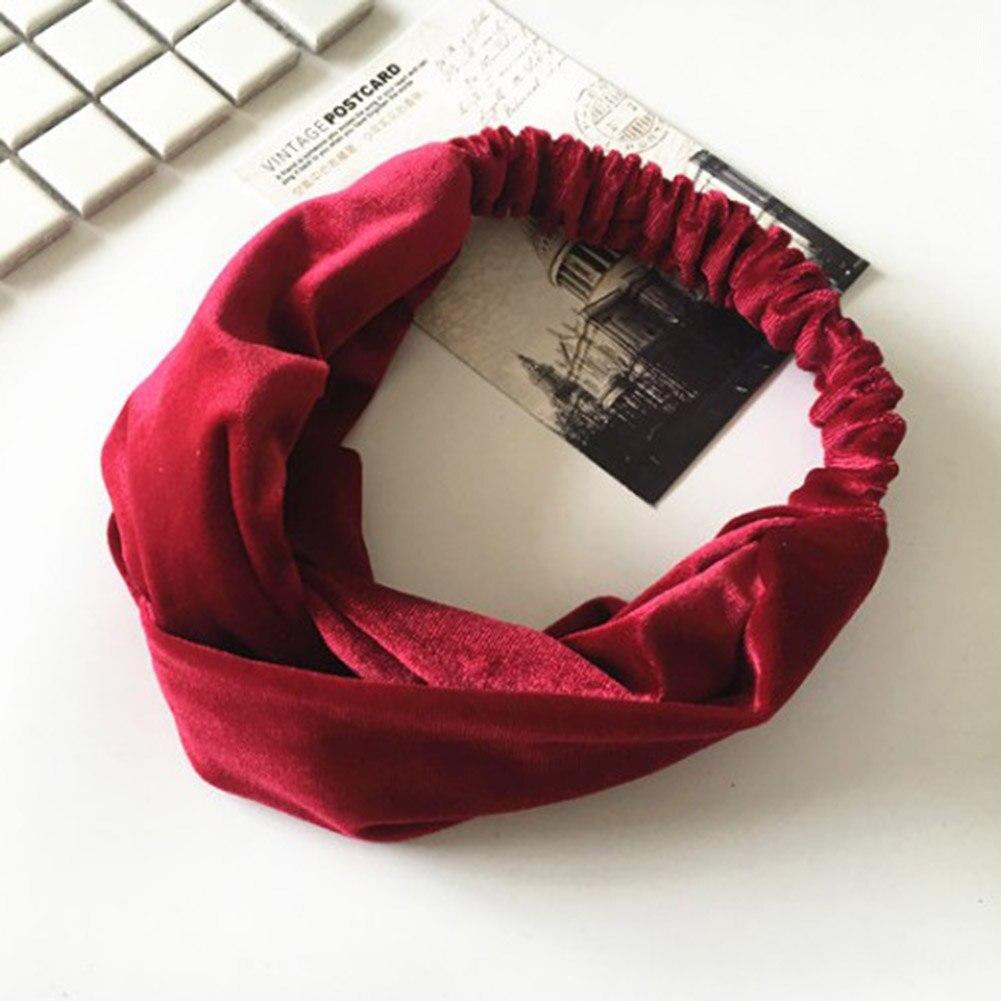 Elastic Cross Velvet Classic Color Hair Belt Girl Headband ... Quailman Belt Headband