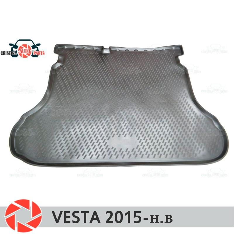 Para Lada Vesta SD/SW/SW CRUZ 2015-mat tronco tapetes do assoalho antiderrapante poliuretano proteção sujeira tronco interior do carro styling