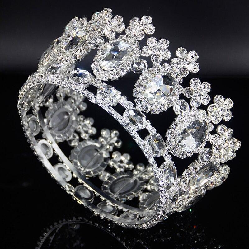 Usine vente fleur couronne mariage nuptiale cheveux accessoires diadèmes et couronnes pour Pageants cadeau pour femmes en gros cheveux bijoux