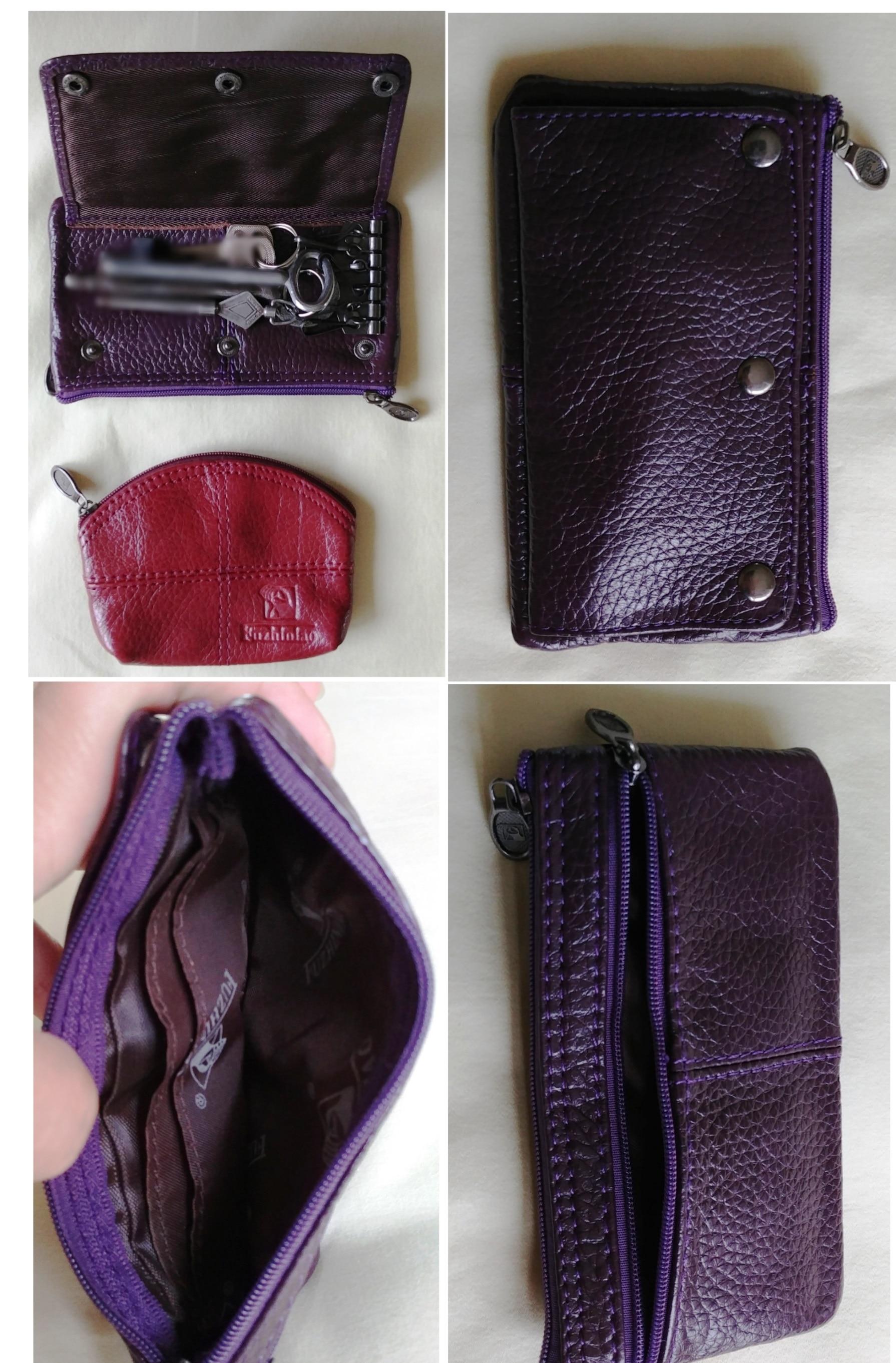 Zongshu Genuine Leather Man Car key holder organizer multifunction key bag Fashion Woman keys Housekeeper (bulk customizing) photo review