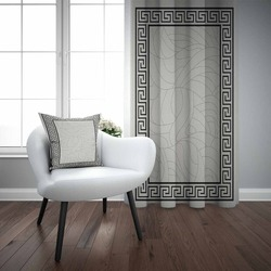 Черная и серая рамка ikat с геометрическим принтом Nordec 3D для гостиной, спальни, оконная панель, занавеска, комбинированная Подарочная наволоч...