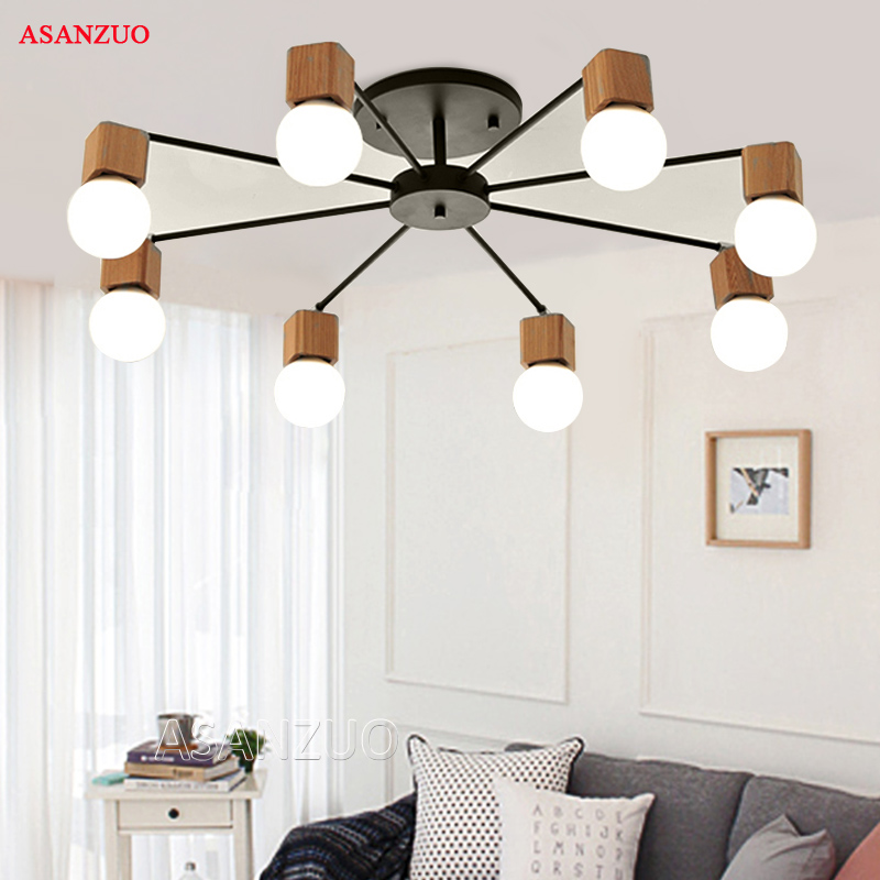 Nordic iron wood ceiling Light Modern home Living Room Bedroom aisle LED Ceiling Lamp Luminaire Lampara Techo Nordic iron wood ceiling Light Modern home Living Room Bedroom aisle LED Ceiling Lamp Luminaire Lampara Techo