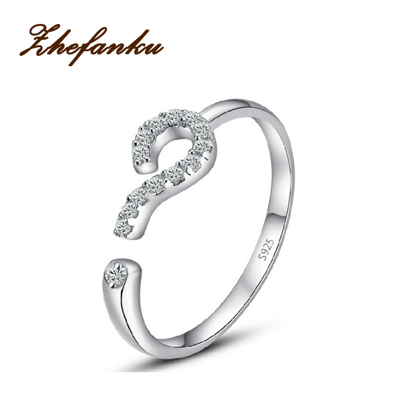 2017 Fashion Opening Question Mark Ring Confession Of Love Silver Color Ring Design Women Jewelry