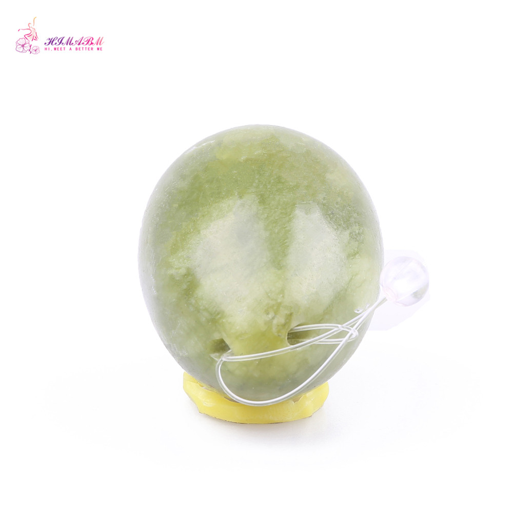 HIMABM 1 Piece Natural Jade Egg For Kegel Exercise Pelvic Floor Muscles Vaginal Exercise Yoni Egg Ben Wa Ball