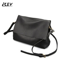 ICEV New Brands Simple Cow Leather Crossbody Bags for Women Messenger Bags High Quality Ladies Bag Made of Genuine Leather Bags