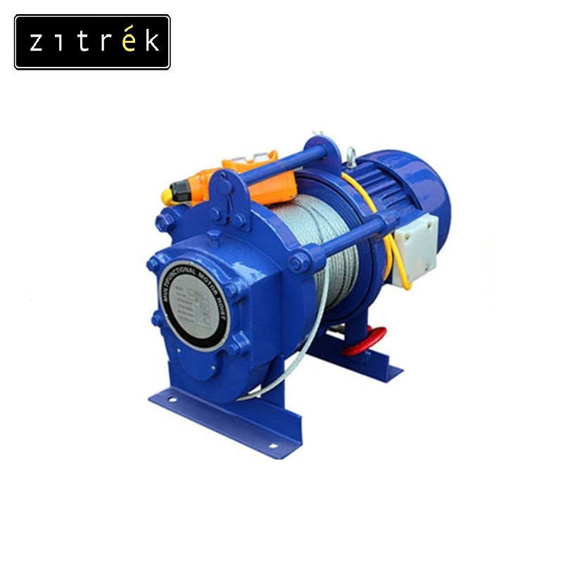 Electric winch Zitrek KCD-300 / 600 / 220 v rope 60 m Electric hoist  Lifting gear Complete set of lifting devices Cable hoist цена