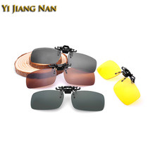 Yi Jiang Nan Brand Rimless Sunglasses Clips Mirror Lenses Coated UV 400 Sun Glasses Clip on Prescription Frame 3 Different Size(China)