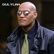 Oulylan Matrix Morpheus Round Rimless Sunglasses Men Classic Clamp Nose Sun Glas