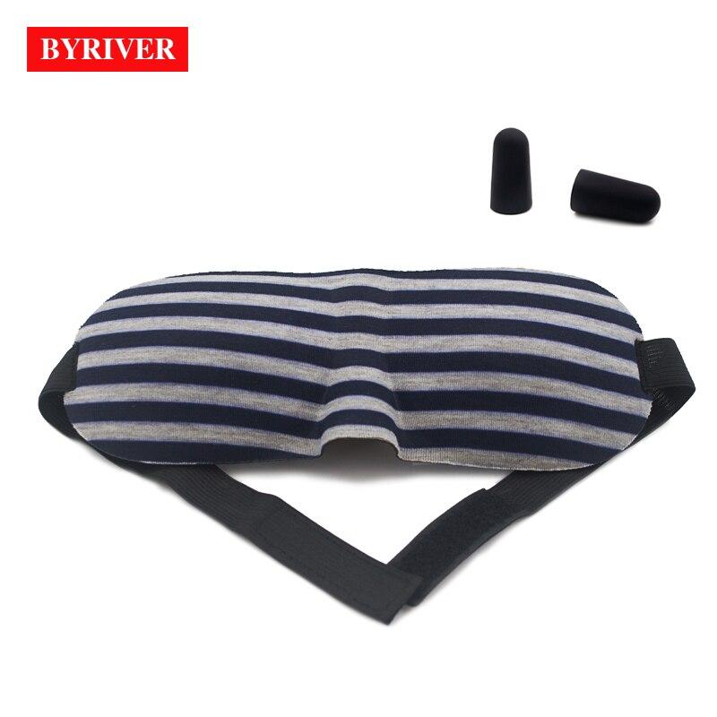 Image 4 - BYRIVER Sleeping Eye Mask, Travel Sleep Eye Shade Cover, 3D Memory Foam Nap Eye Patch Blindfolds Blinders, FREE Earplug-in Sleep & Snoring from Beauty & Health