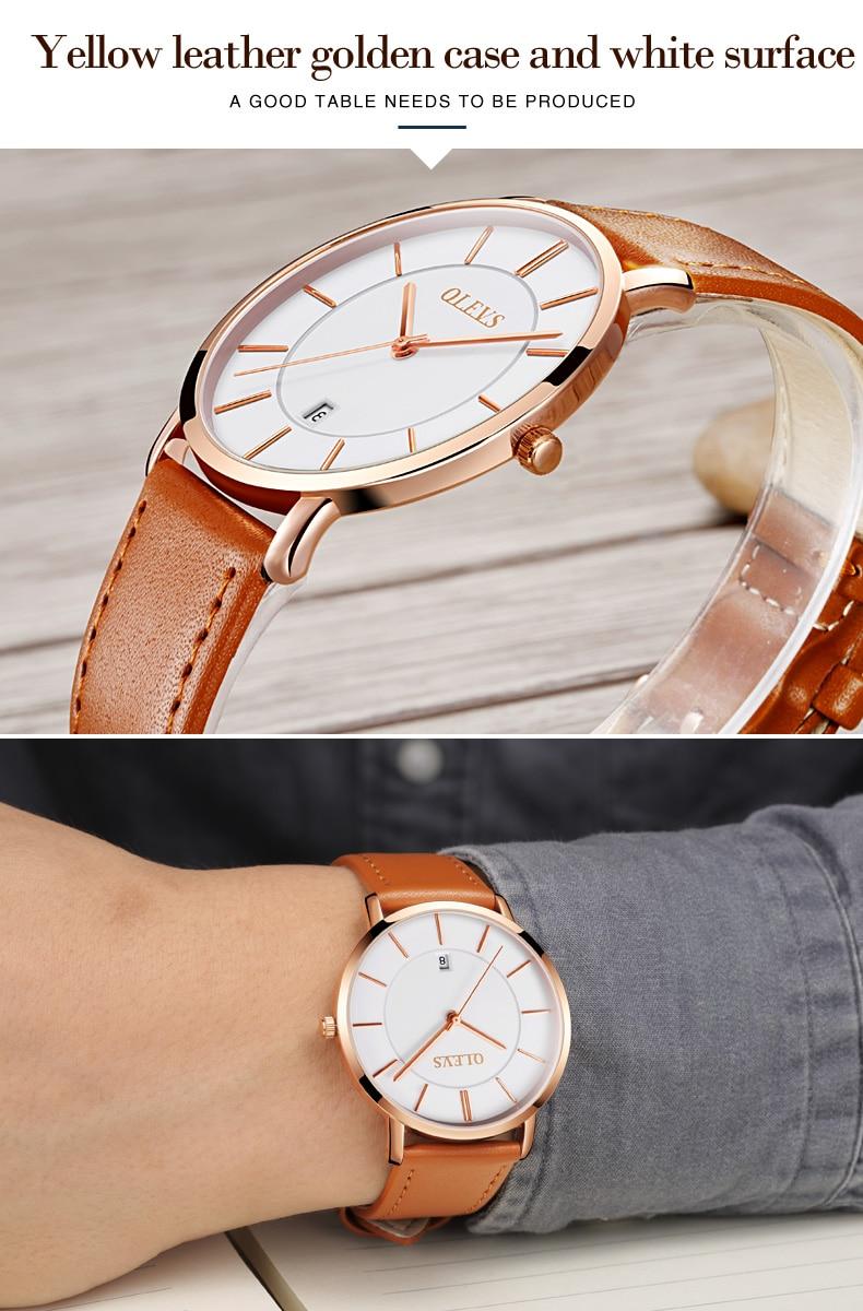UTB8sIybcwQydeJk43PUq6AyQpXag 60% OFF OLEVS Men Ultra thin Watches - Top Brand Luxury Quartz Watch Men's [ New ]